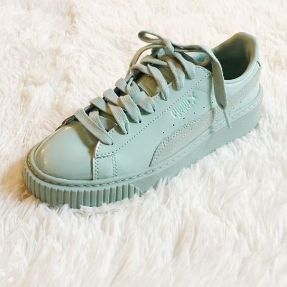 ca23b78d3c5a Puma Platform Patent Leather Sneaker Mint sz7